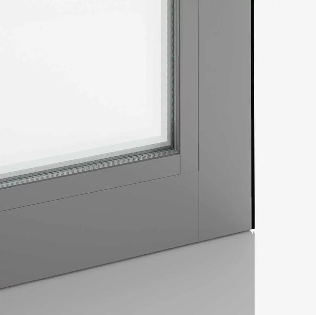 White aluminium | RAL9006
